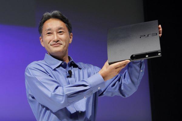 SCEI-Chef Kazuo Hirai und die PS3 Slim